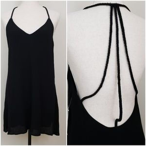 Tobi Braided Straps Racerback Dress Black Size S